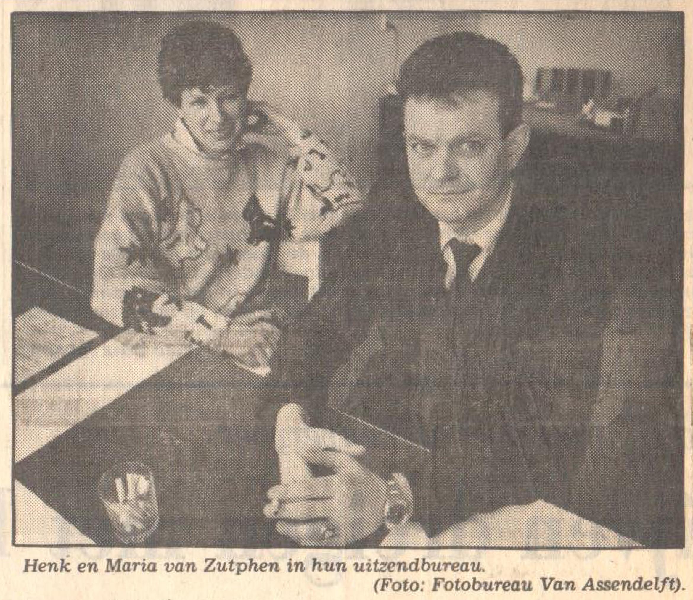 Henk van Zutphen en Maria van Zutphen oprichting Activus