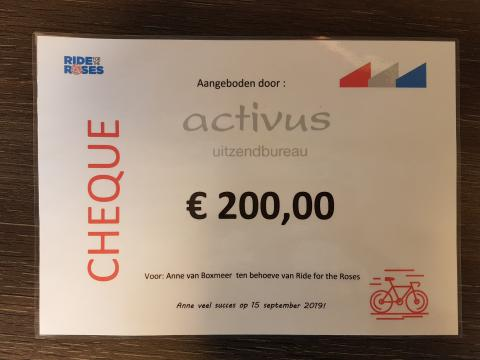 Activus sponsort Ride for the Roses