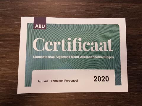 ABU Certificaat van Lidmaatschap 2020